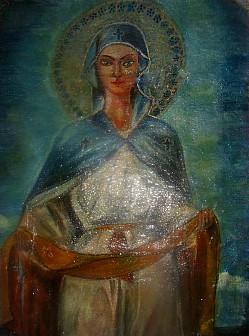 Икона Покрова Божией Матери . Храм 12 апостолов. Копия