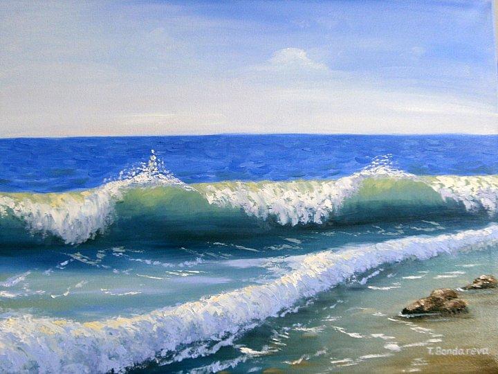 Морские волны, автор Tatyana. Артклуб Gallerix