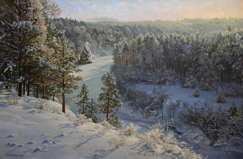 Самохвалов Александр – Над заснеженной рекою