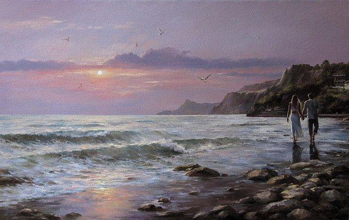 "Кудин Александр – ""Вечерняя прогулка у моря"