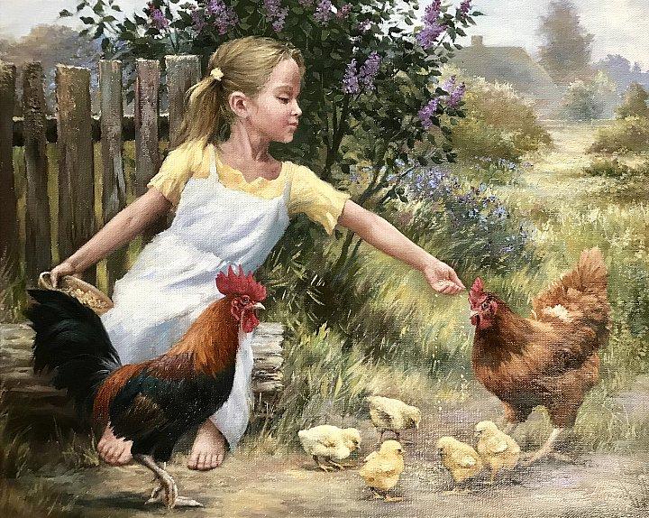 Кудин Александр – Девочка с цыплятами