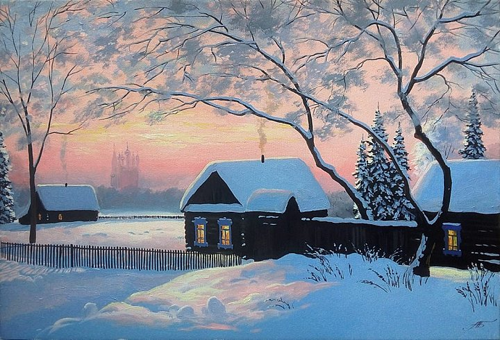 Русская глубинка зимой
