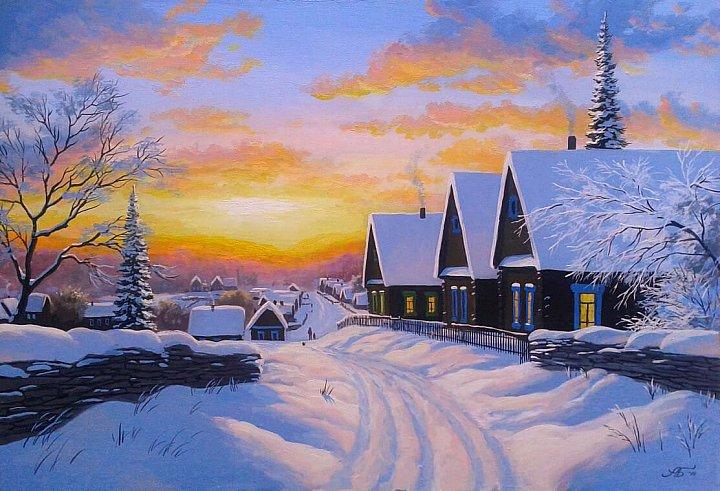 Александр Болотов – Закат над селом