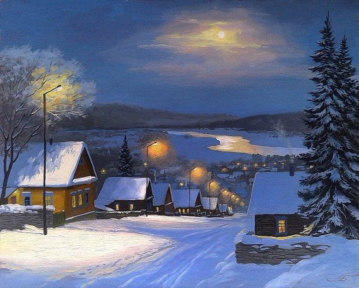 Александр Болотов – Зимний вечер в уральском селе