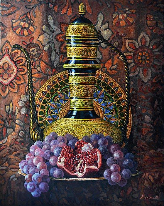 Виноград и гранат