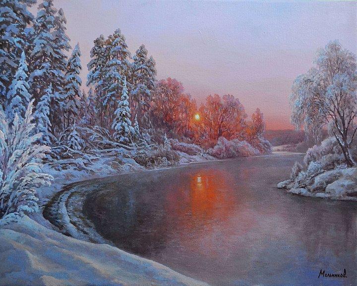 Александр Мельников – Зимний закат