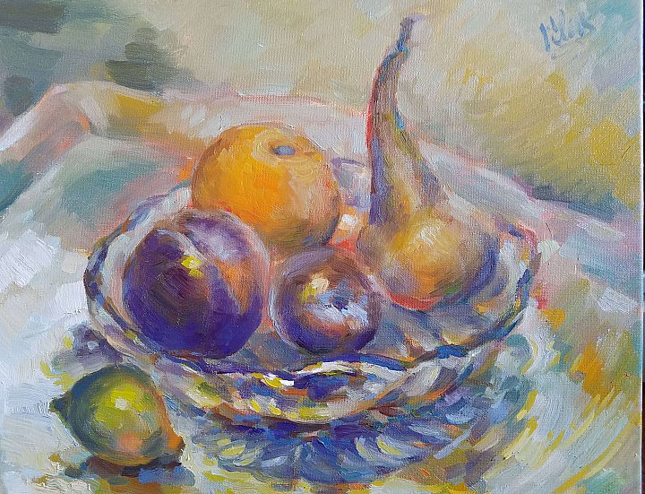 Still Life with a pear ~ Alex Klas