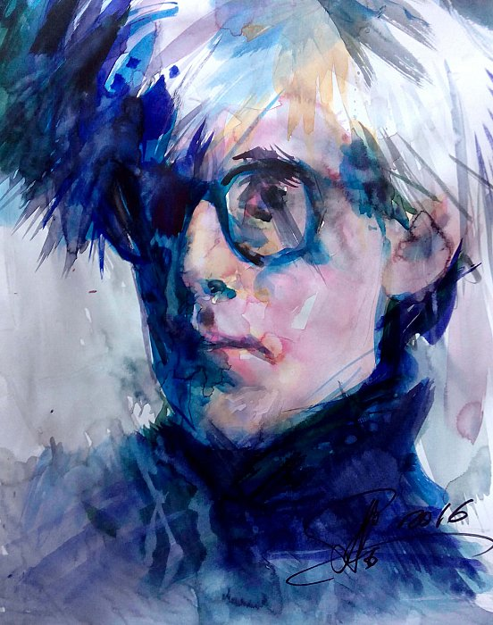 Portrait of Andy Warhol