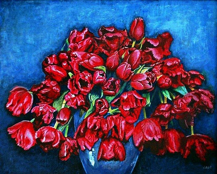 Красные тюльпаны. Red Tulips