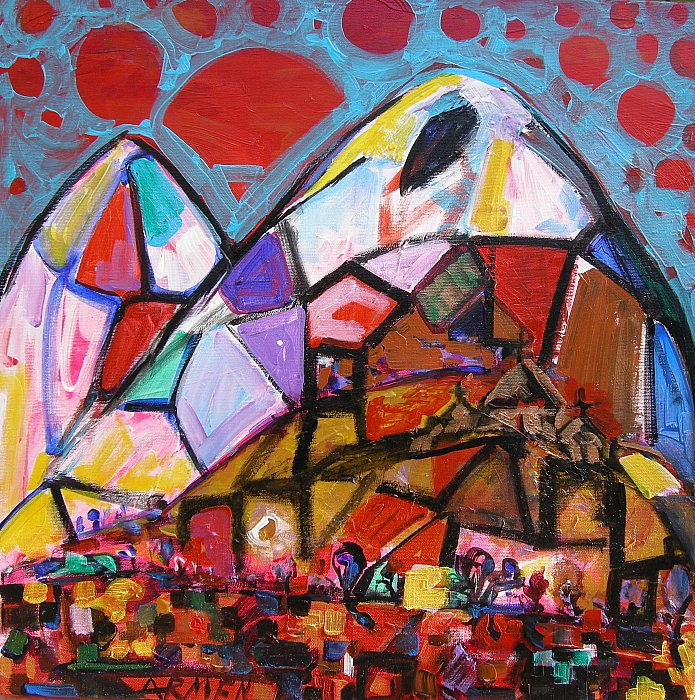 14)Ararat, 2008 acrylic on canvas 50x50 ~ ARMEN AMIRAGHYAN