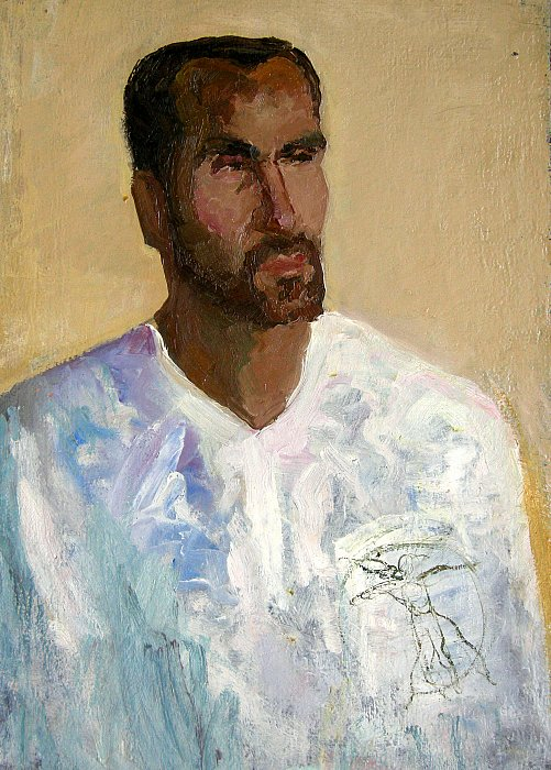 6) Portrait of Artak 1999 oil on canvas ~ ARMEN AMIRAGHYAN