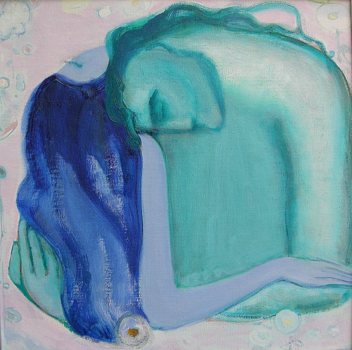 64) Love 2006 oil on canvas 40&40 ~ ARMEN AMIRAGHYAN