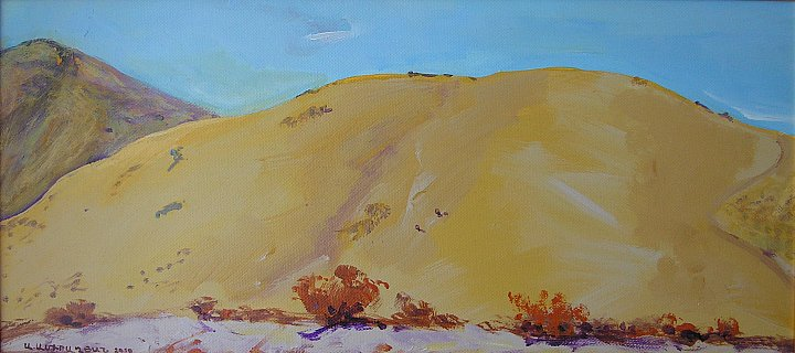 Mountain in Shorja 2010, acrylic on canvas ~ ARMEN AMIRAGHYAN
