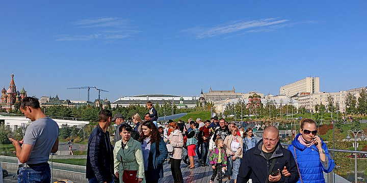 Muscovites and guests of the capital