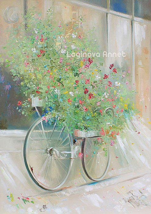 Flower bicycle ~ Аннет