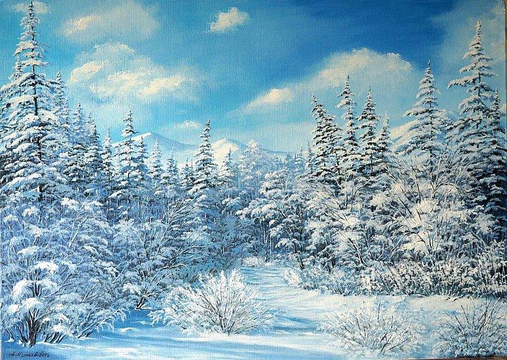 Колосов Аркадий – Зимний пейзаж