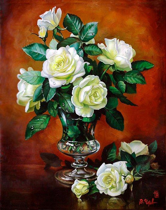 И белых роз букет