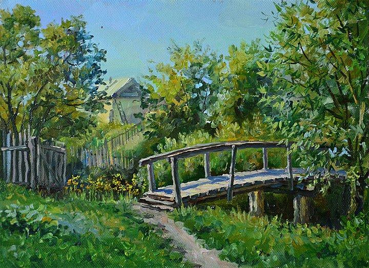 Деревенский мостик