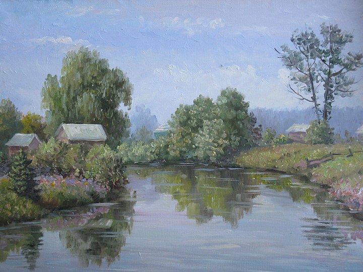 Деревенский пруд. Старое Синдрово