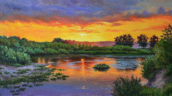 Юлия Бакаева – Закат над рекою
