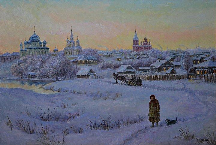 Зимним вечером. Старый Саранск