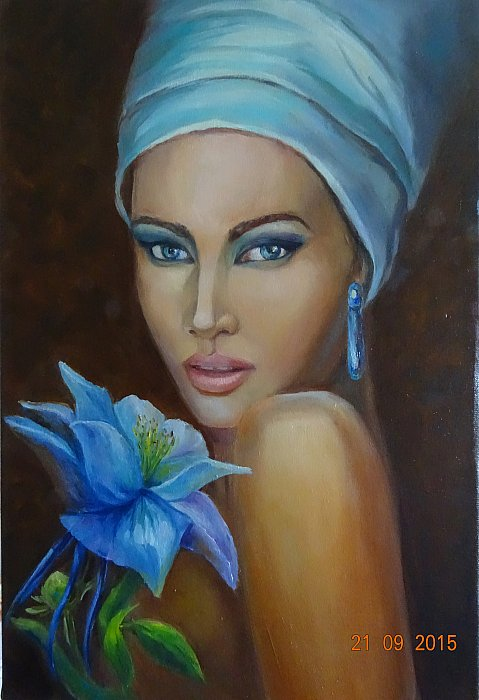 Girl in blue ~ Svetlana