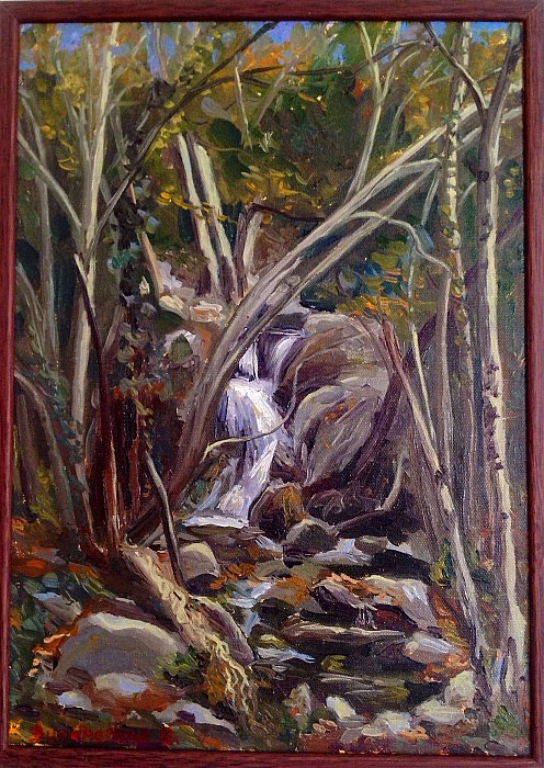 Small waterfall study in Platres