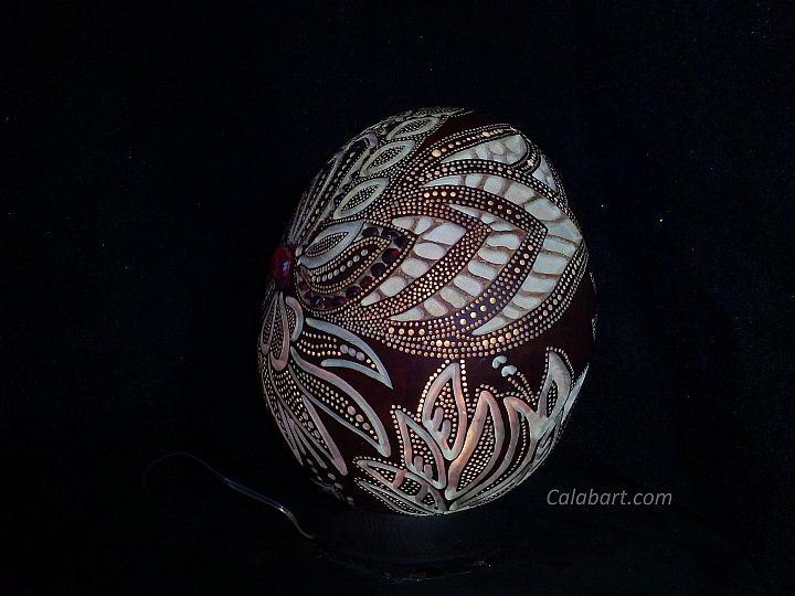 Designer handmade lamp from the African pumpk… ~ Marina Georgievna Naumova