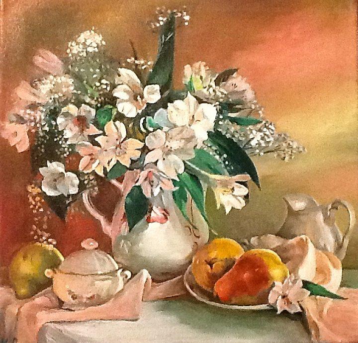 Вера Ивановна Цивенкова – Цветы с грушами