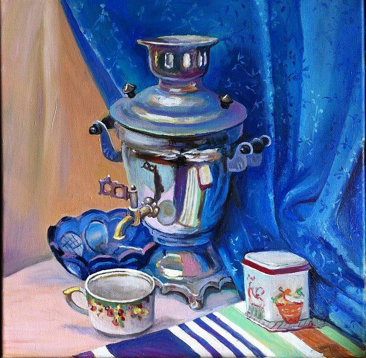 Вера Ивановна Цивенкова – Голубой натюрморт