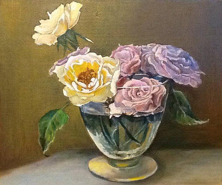 Вера Ивановна Цивенкова – Розы в вазе