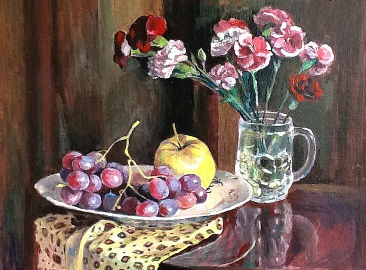 Виноград и гвоздики