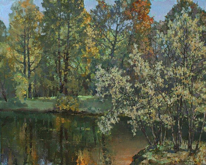 Меркушев Виктор – А лес багрится всполохом осенним