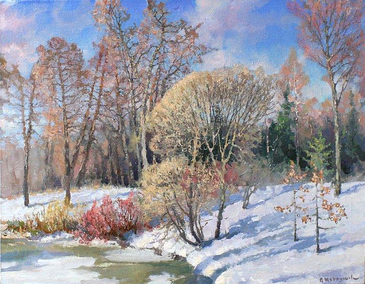 Кружева снегов – над ними – крон плетенье – а над ними – облаков узор весенний
