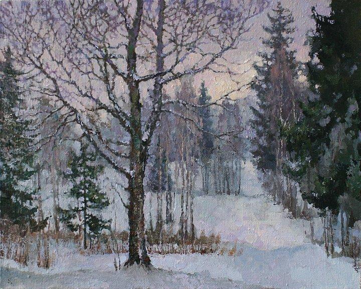 Небо ветвями дерев прикрою, зверя следы замету снежком