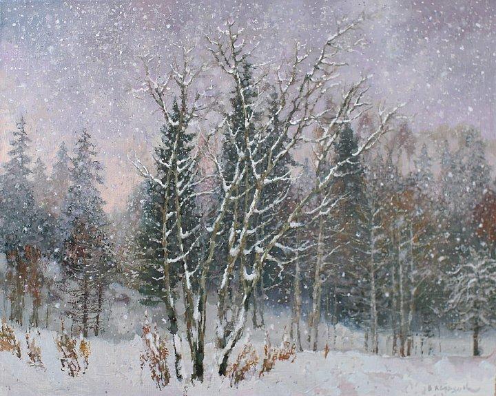 Вселенную зимы весь сонм галактик снежных пытается объять юдольный плен земли