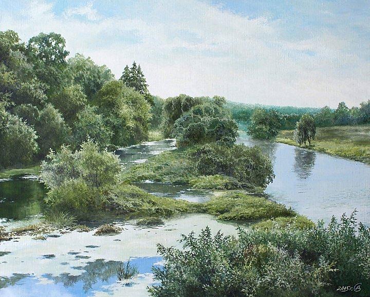 Лето на реке Лопасня