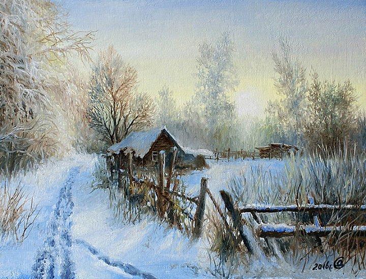 Сергей Дорофеев – Зимнее утро на краю деревни