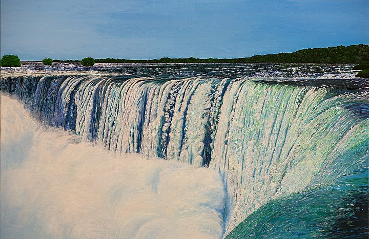 Picture «Waterfall», 2005 г. - 60*90/oil/canv… ~ Елена Гурова