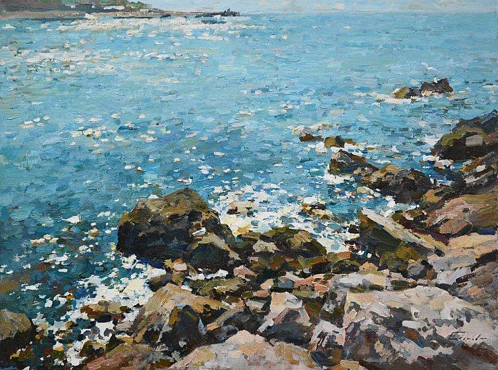 Еськов Павел – На берегу Чёрного моря. Хочу слушать песни прибоя. Море... какое ты море? То ли ласковое, то ли озорное?