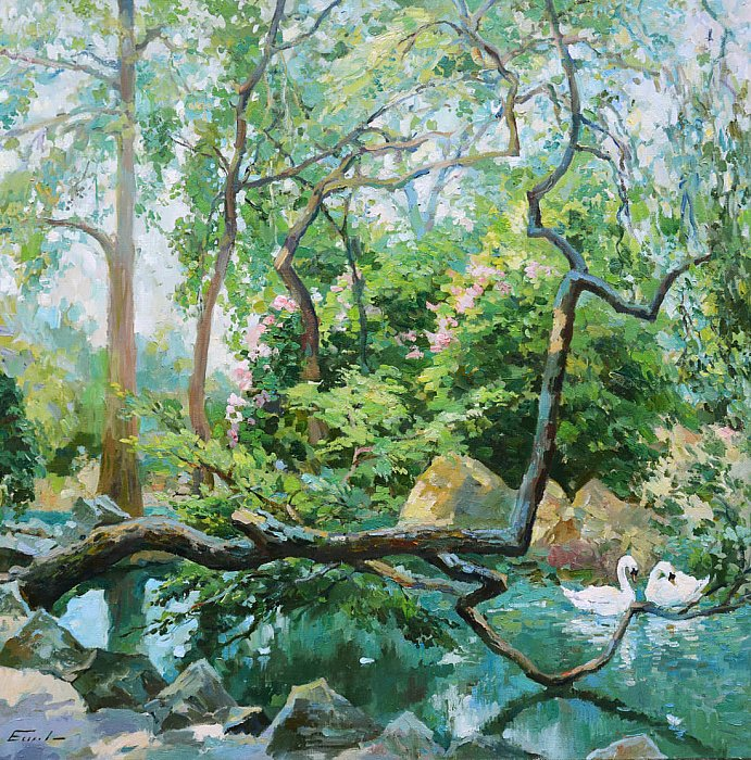 Еськов Павел – Пруд с лебедями