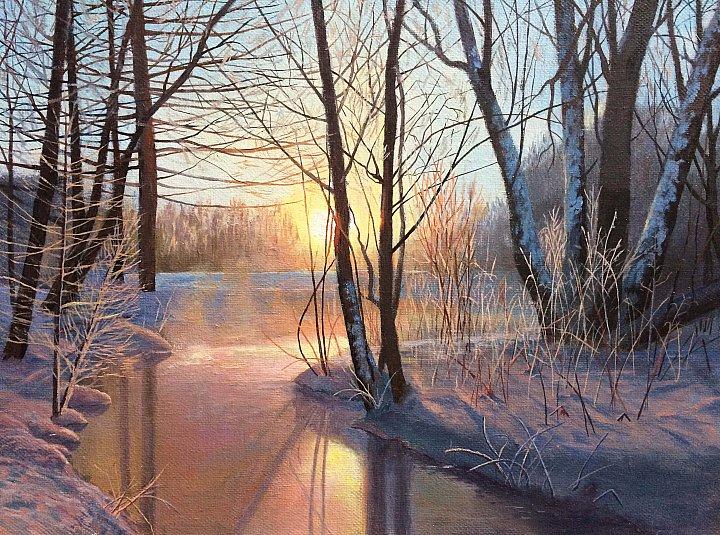 Любовь Гильман – Рассвет у застывшей реки