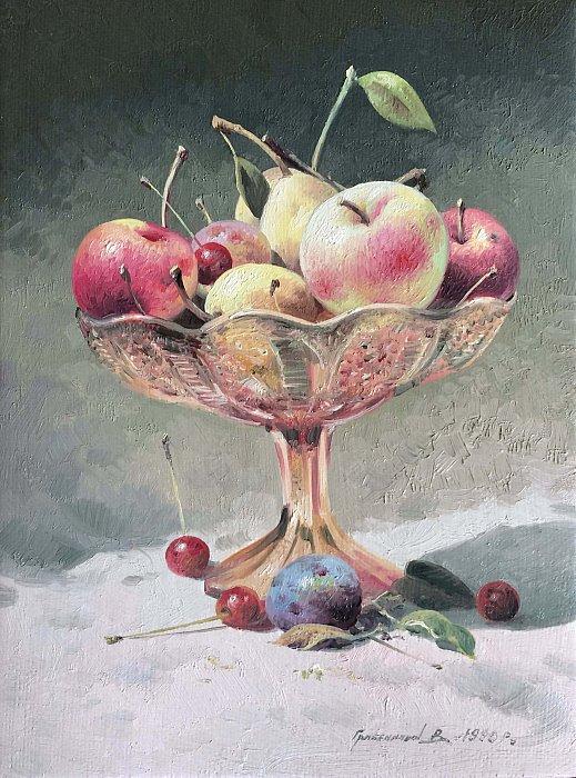 Натюрморт с вазой с яблоками
