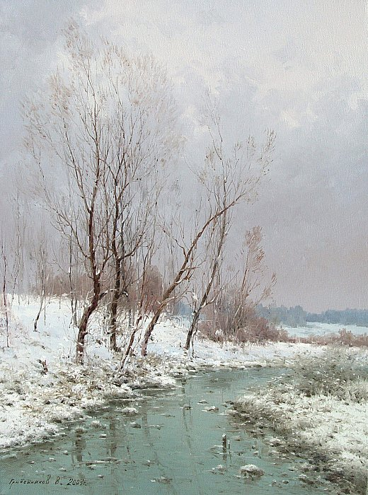 Речка замерзла