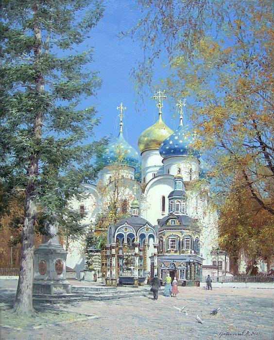 Свято-Троицкая Сергиева лавра в солнечный день
