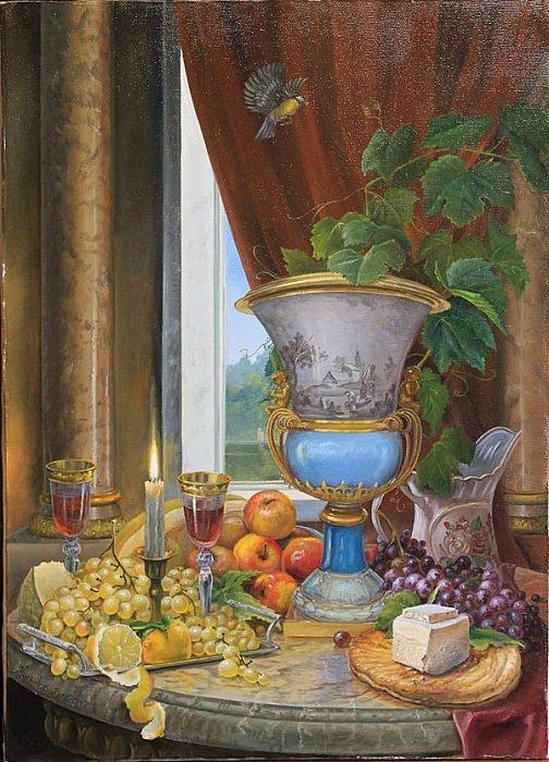 Владимир Куликов – Натюрморт со свечей и вазой