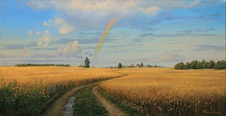 Радуга над пшеничным простором