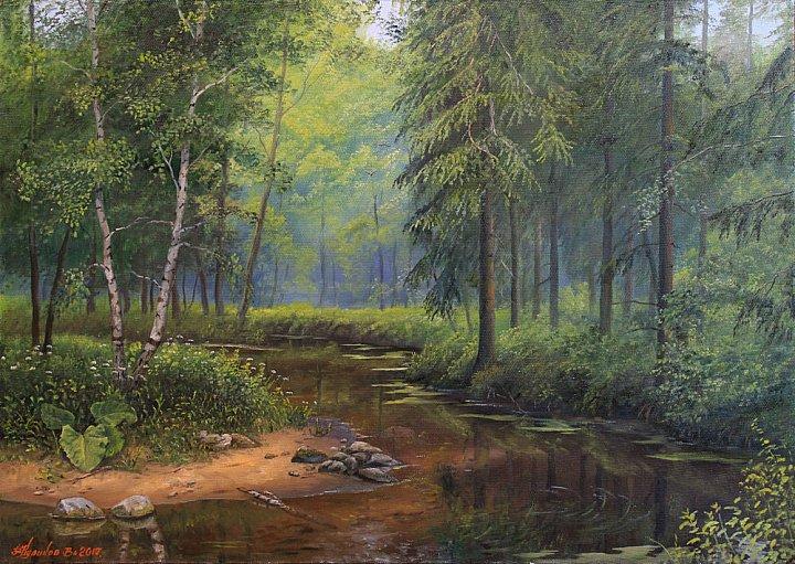 Владимир куликов – Ручей в лесу