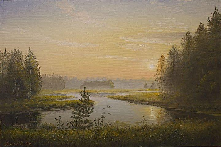 Утро в озерном краю