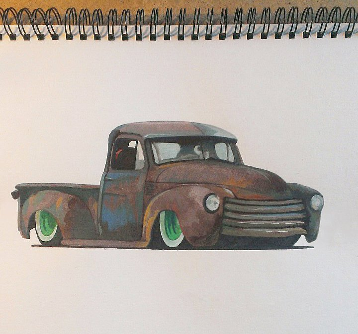 Авто Chevrolet 1952 Rat Rod Tetanus ~ Игорь Чебанин